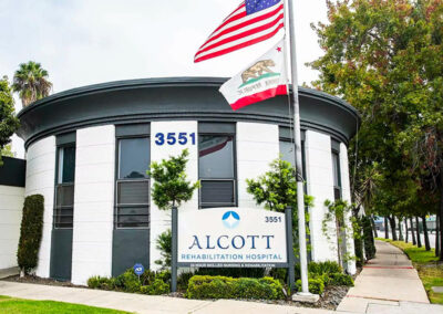 Front view of Alcott