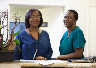Alcott Rehabilitation two nurses smiling