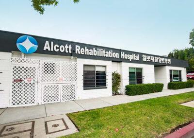 Alcott Rehabilitation Hospital front sign