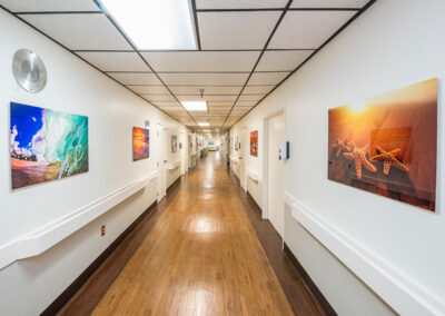 Anaheim Healthcare facility hallway