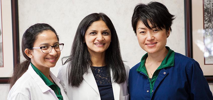 Three nurses at Anaheim Healthcare facility