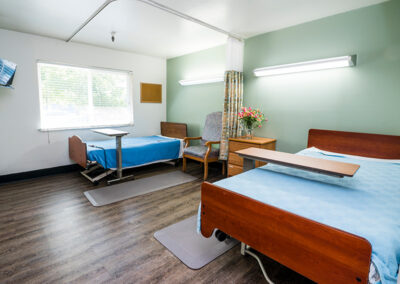 Semi-private room accommodations with big windows