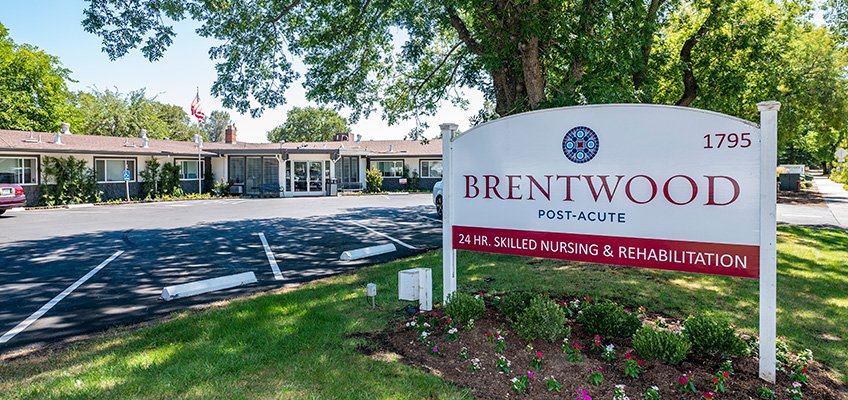 Brentwood Post Acute front garden and front sign