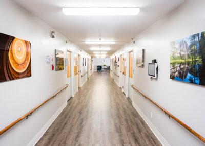 main hallway at Briarwood Post Acute