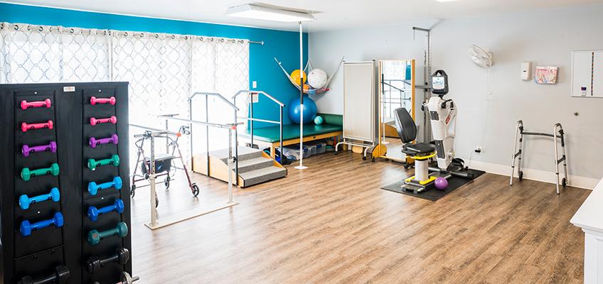 rehab gym at Briarwood Post Acute