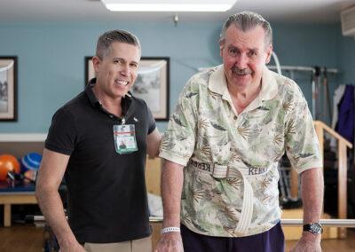 Citrus Nursing Center rehab therapist with an elderly resident