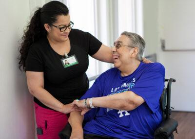 Citrus Nursing Center nurse with a male elderly resident