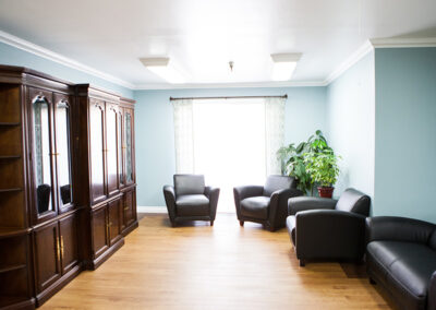 Citrus Nursing Center soft seating in the lobby