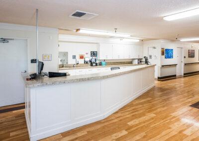 College Vista nurse's station and hallway