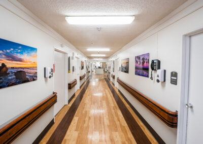 College Vista hallway