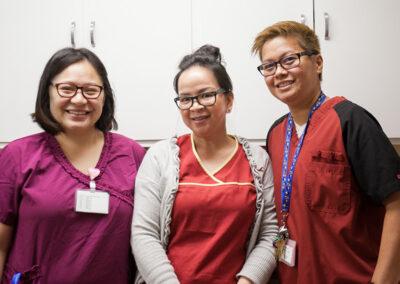 College Vista three nurses smiling