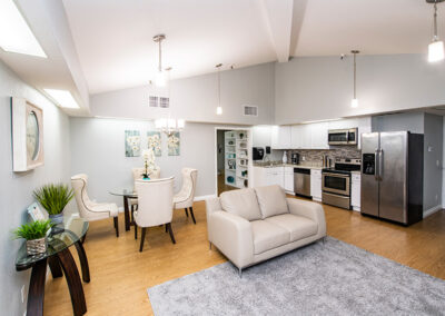 Occupational Therapy kitchen and living room