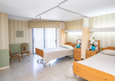 Community Care semi-private bedroom