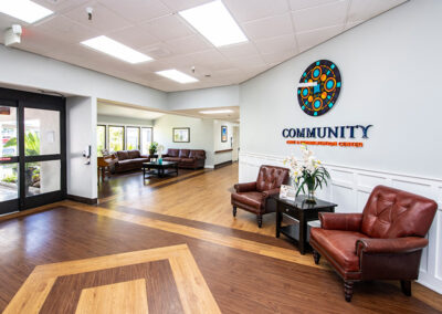 Community Care front lobby seating area