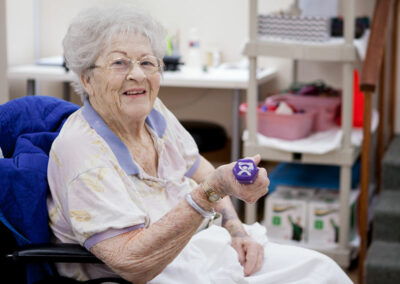 Resident in the rehab gym