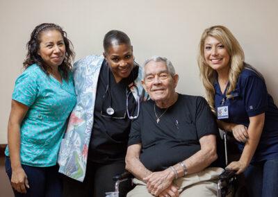 Three nurses and a resident