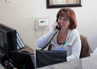 Receptionist at the front lobby