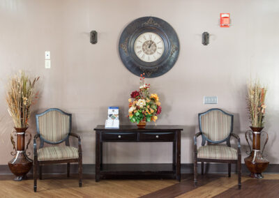 Waiting area in the front lobby