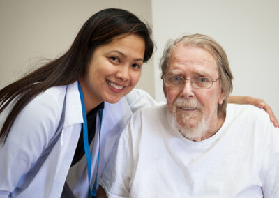 A nurse and a resident