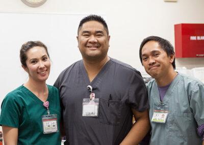 three nurses at Country Oaks care center