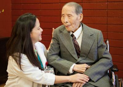 Del Mar elderly resident with nurse