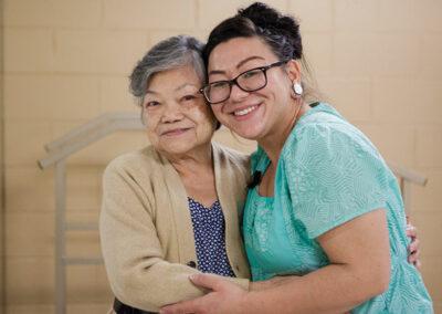 Del Mar nurse with an elderly resident