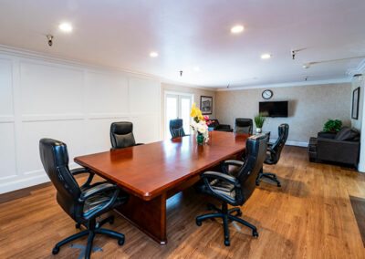 A conference room for private family gatherings