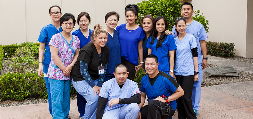 Portrait of the French Park rehab therapists and care team