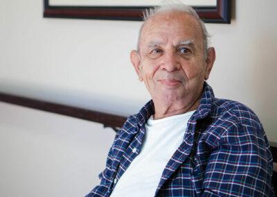 Gordon Lane elderly resident in the hall