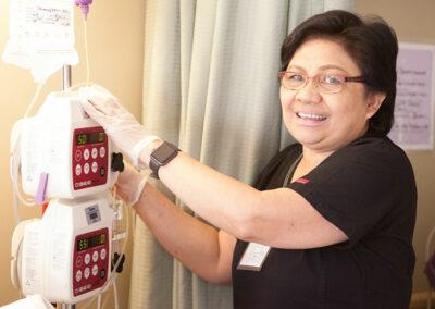 smiling nurse at Mission Care Center