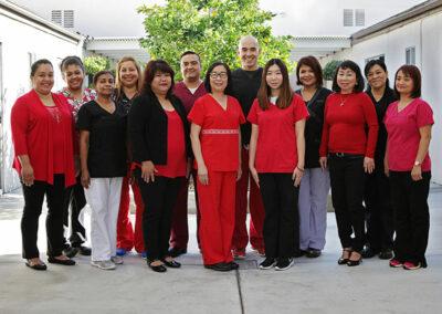 Monterey Park nursing staff portrait