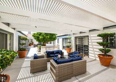 Monterey Park outdoor shaded soft seating area