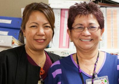 North Valley Nursing Center nurses smiling