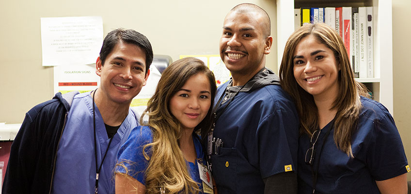 North Valley Nursing Center caregivers at the nurses station