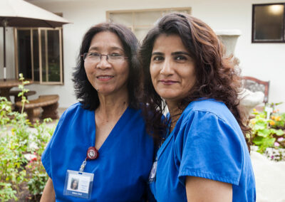 Two nurses at Pacific Post-Acute