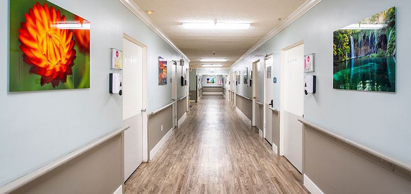 Paramount Convalescent hallway