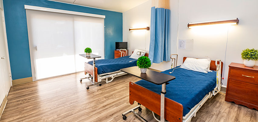 Paramount Convalescent Hospital semi-private room